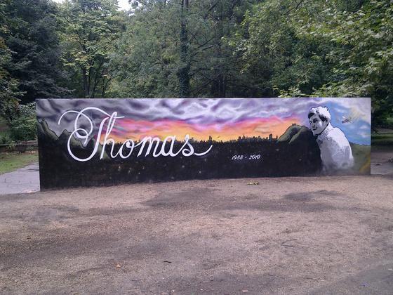 Emlékgraffiti a Városmajorban - fotó: Csaba