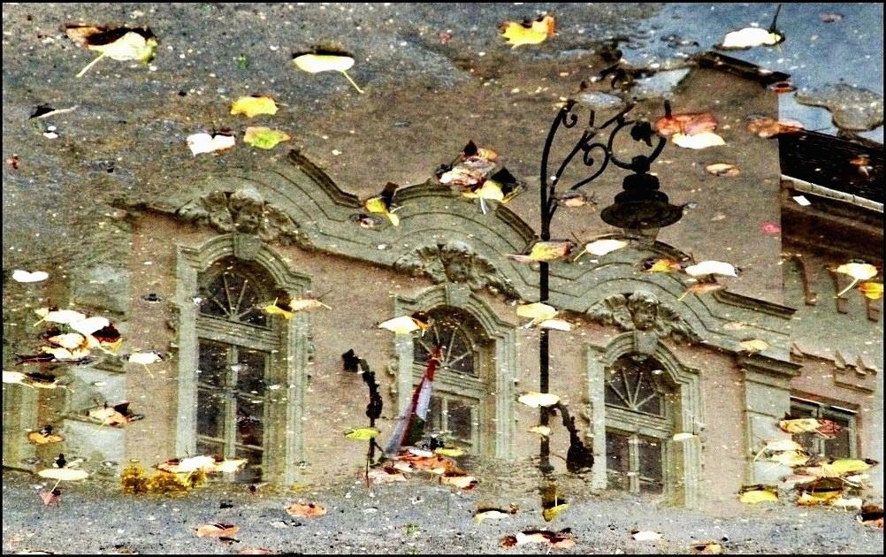 Középület tócsában
