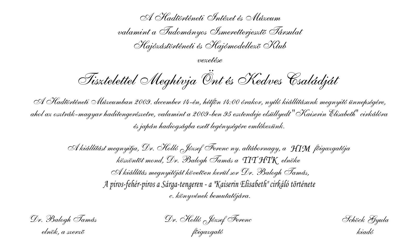 Meghívó 2009