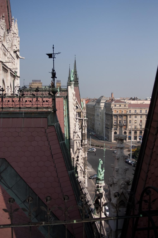 Kilátás a Parlament tetejéről