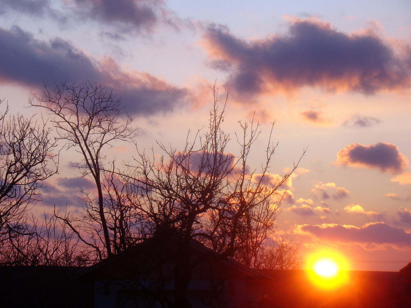 Január 3. naplementéje